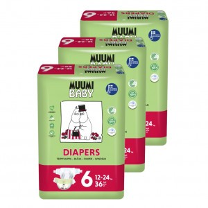 Muumi Eco Wegwerpluiers Maat 6 (3 pakken) Voordeelpakket