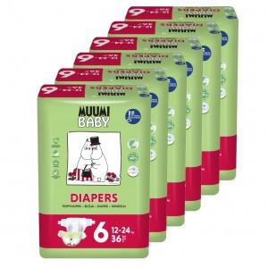 Muumi Eco Wegwerpluiers Junior (6 pakken) Voordeelpakket