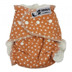 Anavy Nachtluier XL met snaps Flowers Orange (6-18 kg)