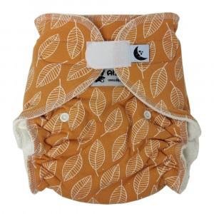 Anavy Nachtluier XL met velcro Leaves Orange (6-18 kg)