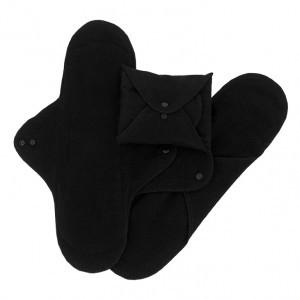 Imse Vimse Wasbaar Maandverband Nacht (3-pack) Zwart