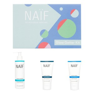 "Naïf Grown Ups Cadeauset ""Glow Getter Kit"" (Dagcrème, Nachtcrème, Cleanser)"