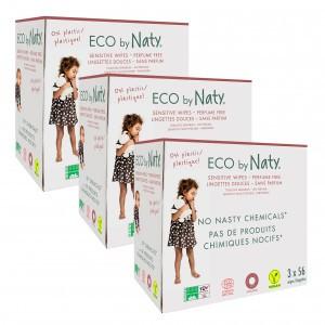 Naty Eco Vochtige doekjes (9 x 56 stuks) - Ongeparfumeerd