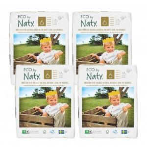 Naty Eco Wegwerpluiers Maat 6 (4 pakken) Voordeelpakket