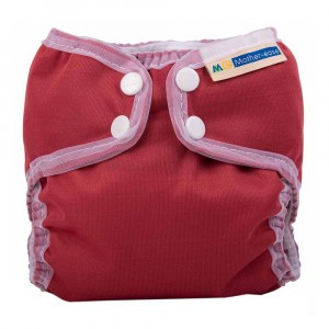 Mother ease Newborn Luier Wizard Uno Organisch Katoen (3-6 kg) Cranberry