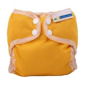 Mother ease Newborn Luier Wizard Uno Organisch Katoen (3-6 kg) Mustard