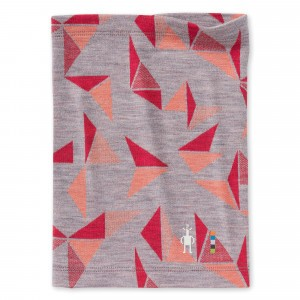 Smartwool Nekwarmer Kids Merino 250 Pattern - Light Gray Pinwheel
