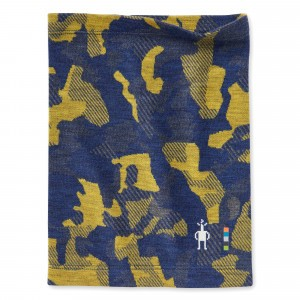 Smartwool Nekwarmer Kids Merino 250 Pattern - Alpine Blue Camo