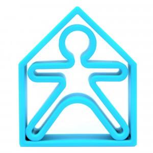 Dëna Silicone Speelgoed Pop + Huis Neon Blauw