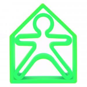 Dëna Silicone Speelgoed Pop + Huis Neon Groen