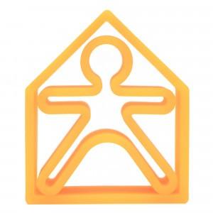 Dëna Silicone Speelgoed Pop + Huis Neon Oranje