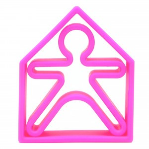 Dëna Silicone Speelgoed Pop + Huis Neon Violet