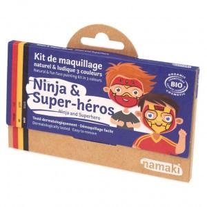 "Namaki Grimeerverf  Kit 3 Kleuren ""Ninja & Super Held"""