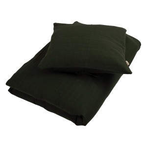 Filibabba Tetra Beddengoed Junior Dark Green 100 x 140 cm