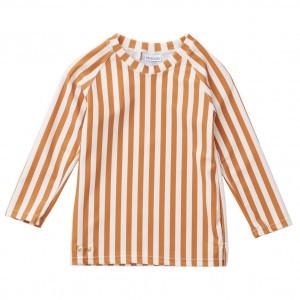 Liewood UV T-Shirt Lange Mouwen Stripe Mosterd