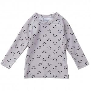 Liewood UV T-Shirt Lange Mouwen Panda Grijs