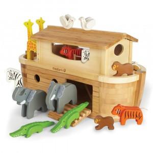 EverEarth Grote Speelset Noah's Ark (met 16 diertjes)
