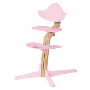 Nomi Highchair Pale Pink / White Oiled
