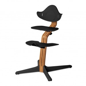 Nomi Highchair Black / Oiled Oak
