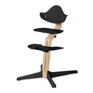 Nomi Highchair Black / White Oiled