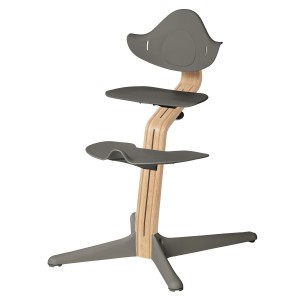 Nomi Highchair Anthracite / White Oiled