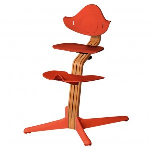 Nomi Highchair Burnt Orange/ Oiled Oak