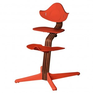 Nomi Highchair Burnt Orange / Oiled Walnut
