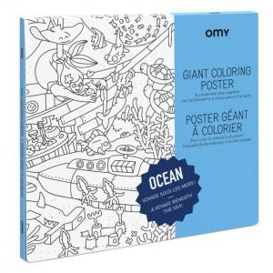 OMY Kleur Poster - Ocean