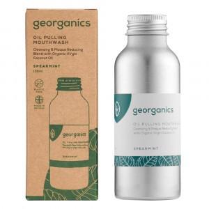 georganics Mondspoeling Oil Pulling - Spearmint (100 ml)