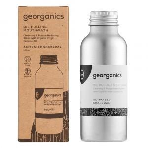 georganics Mondspoeling Oil Pulling - Actieve Kool (100 ml)
