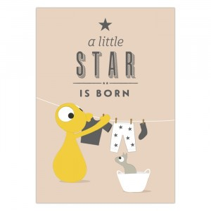 "Olli + Jeujeu Postkaart ""A little star is born"""