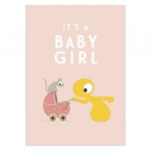 "Olli + Jeujeu Postkaart ""Baby Girl"""