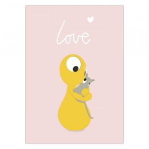 """Olli + Jeujeu Postkaart """"Love"""""""