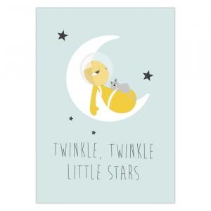 """Olli + Jeujeu Postkaart """"Little Stars"""""""