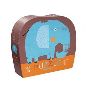 Crocodile Creek puzzel mini olifant (12 stukken)