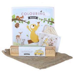 Olli + Jeujeu Giftpack (Kleurboek,Kleurpotloden, puzzeltje)