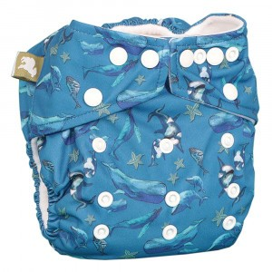 Little Lamb One Size Nappy Into The Blue