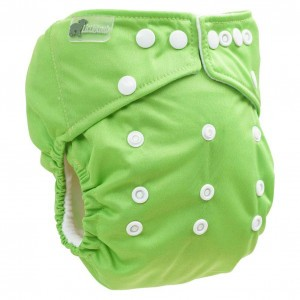 Little Lamb One Size Nappy Green Apple