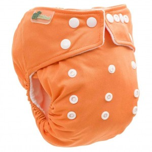Little Lamb One Size Nappy Oranje