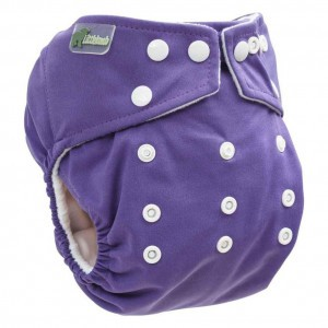 Little Lamb One Size Nappy Grape