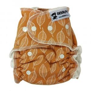 Anavy One Size Luier met snaps Leaves Orange (4-15 kg)