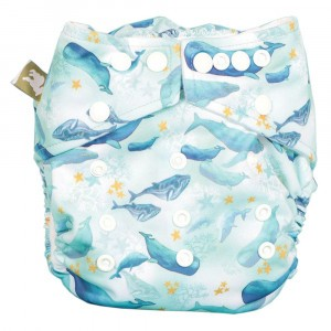 Little Lamb One Size Nappy Under The Sea