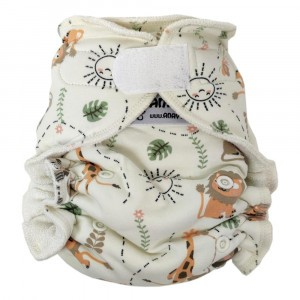 Anavy One Size Luier met Velcro Jungle Party (4-15 kg)