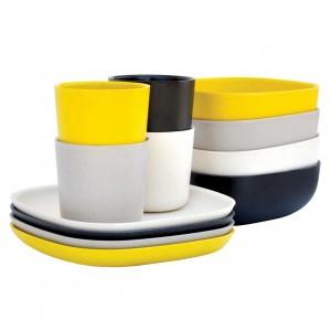 Ekobo Ontbijt Set (Zwart, Stone, Wit Geel)
