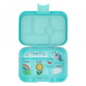 Yumbox Original Misty Aqua met Tray Unicorn