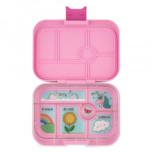 Yumbox Original Powder Pink met Tray Unicorn