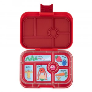 Yumbox Original Wow Red met Tray Funny Monsters