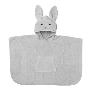 Liewood Poncho Konijn Dumbo Grijs 2-4 jaar