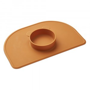 Liewood Silicone Placemat Oscar Mosterd