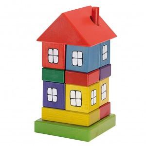 Ostheimer Stapelfiguur Huis gekleurd (23 cm)